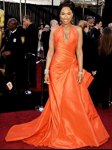 Accesorios para vestido naranja de noche